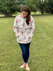 New Englander Rain Jacket by Charles River Apparel - Floral