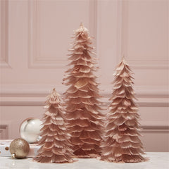 Pink Glitter Feather Trees