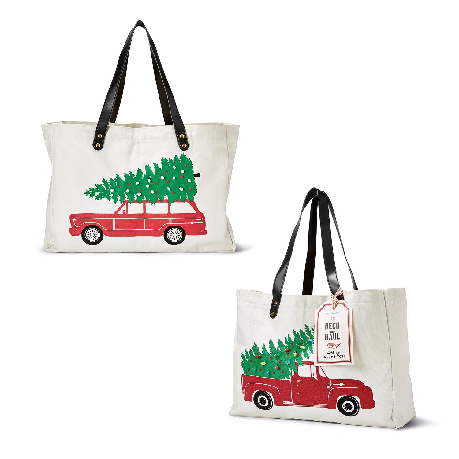 Canvas Southern Vintage Truck Tote Bag with free monogram