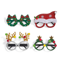 Festive Glitter Glasses - Choice of Style