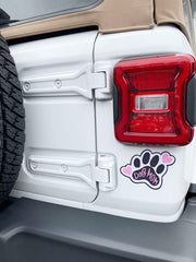 'Dog Mom' Car Magnet by PBK