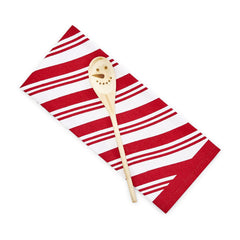 Peppermint Twist Dish Towel and Mixing Spoon Set
