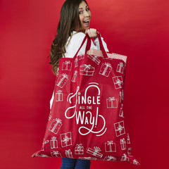 'Jingle All the Way' Oversized Christmas Tote Bag