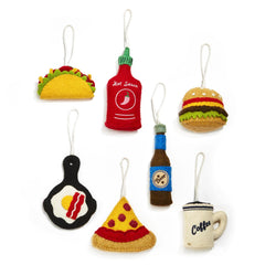 Foodie Fest Hand-Crafted Ornaments - Choice of Style