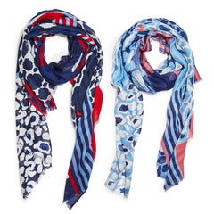 Red, White & Blue-tiful Scarf with Eyelash Fringe - Choice of Color