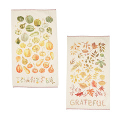 Harvest Bounty Kitchen Towel - Choice of Saying