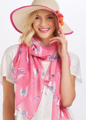 Pink Llama Scarf by Charlie Paige