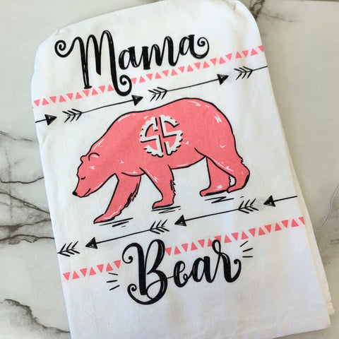 Mama Bear Dish Towel Perfect Mother's Day Gift