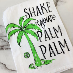 'Shake Your Palm Palm' Dish Towel by Simply Southern