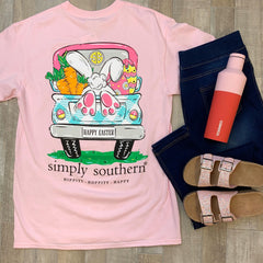 'Bunny Feet' Short Sleeve Tee by Simply Southern