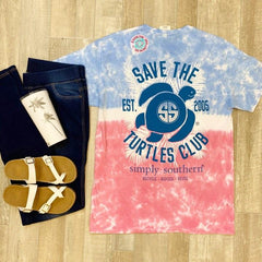 'Save the Turtles Club' Tie Dye Short Sleeve by Simply Southern