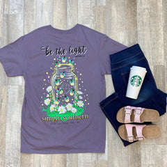 Youth 'Be the Light' Mason Jar Short Sleeve Tee by Simply Southern