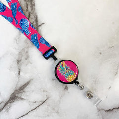 'Pineapple' Printed Lanyard by Simply Southern