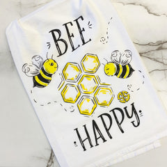 'Bee Happy' Dish Towel by Simply Southern