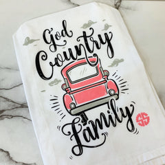 'God Country Family' Dish Towel by Simply Southern