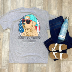 Youth 'Land of the Free' Short Sleeve Tee by Simply Southern