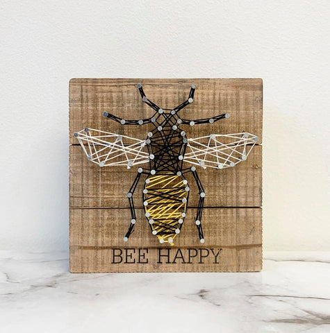 Spring Home Decor Sign Bee Happy