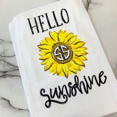 'Hello Sunshine' Dish Towel by Simply Southern