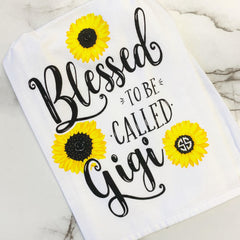 'Blessed To Be Called Gigi' Dish Towel by Simply Southern
