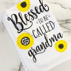 'Blessed To Be Called Grandma' Dish Towel by Simply Southern