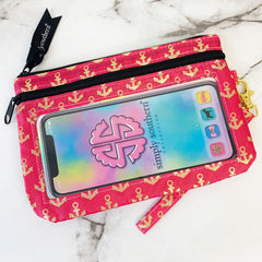 'Gold Anchors' Printed Phone Wristlet by Simply Southern