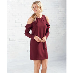 Aria Cold Shoulder Dress by Mud Pie - Pinot