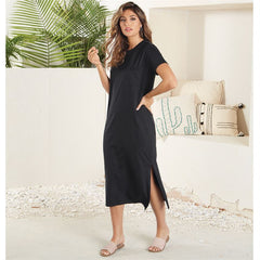 Black Grayson T-shirt Dress by Mud Pie