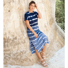 Grayson Midi T-Shirt Dress by Mud Pie - Navy Ombre