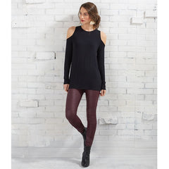 Trish Cold Shoulder Tunic by Mud Pie - Black