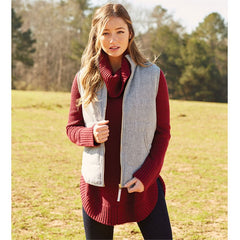 Brodie Quilted Vest by Mud Pie - Herringbone