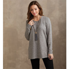 Camilla Sweater by Mud Pie - Gray