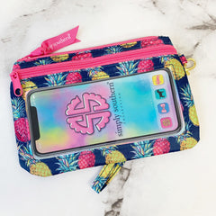 'Colorful Pineapples' Printed Phone Wristlet by Simply Southern