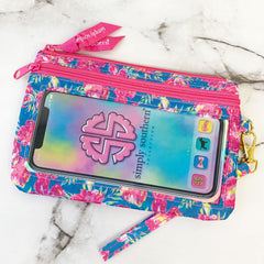 'Hibiscus Flower' Printed Phone Wristlet by Simply Southern