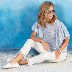 White Tassel Jeans by Mud Pie