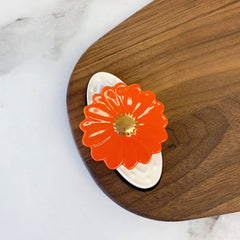 Orange Flower Power Mini by Nora Fleming