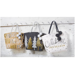 Metallic Winter Dazzle Totes by Mud Pie