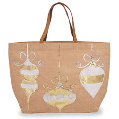 Winter Wonderland' Dazzle Jute Ornament Tote