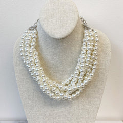 Miller Multi Layered Pearl Collar Necklace