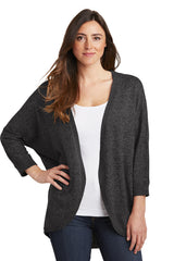 Courtney Cozy Marled Open Front Sweater - Dark Gray