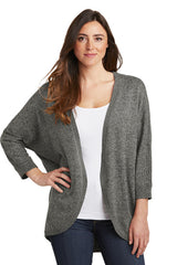 Courtney Cozy Marled Open Front Sweater - Warm Gray