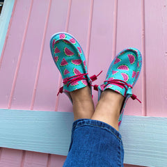 Slip On Shoes by Simply Southern - Watermelon