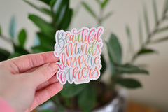 'Beautiful Minds' Sticker