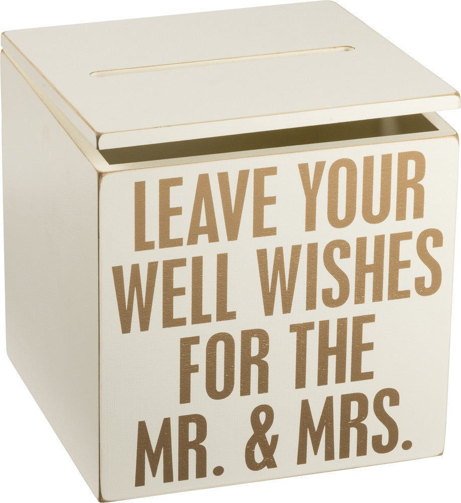 wedding wishes card box by primitives by kathy