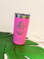 'Life is Short Be Sweet' Stainless Steel Pineapple Tumbler