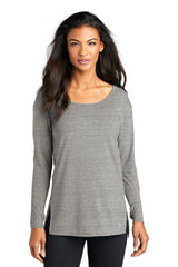 Luuma Long Sleeve Tunic by OGIO® - Gray Heather (Ships in 1-2 Weeks)