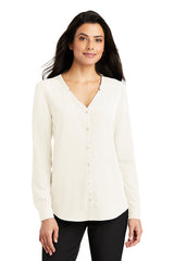 Lindsey Long Sleeve Button-Front Blouse - Ivory (1-2 Week Production Time)