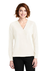 Whitney Wrap Blouse - Ivory (1-2 Week Production Time)