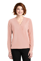 Whitney Wrap Blouse - Blush (1-2 Week Production Time)