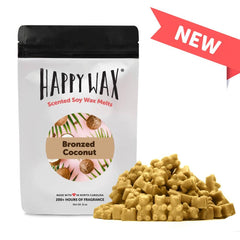 Happy Wax Soy Melts Half Pounder - Bronzed Coconut