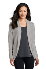 Luuma Open Front Cardigan by OGIO® - Gray Heather (Ships in 2-3 Weeks)